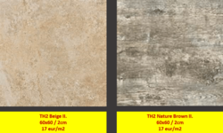 TH2 Stone Grey II. 60x60 / 2cm 17 eur/m2