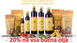 "Akcija bučno olje samo do sobote -20%<br><br><a href=""https://www.oljarna-sredisce.si/index.php?route=product/special"" target=""_blank"">https://www.oljarna-sredisce.si/index.php?route=product/special</a>"