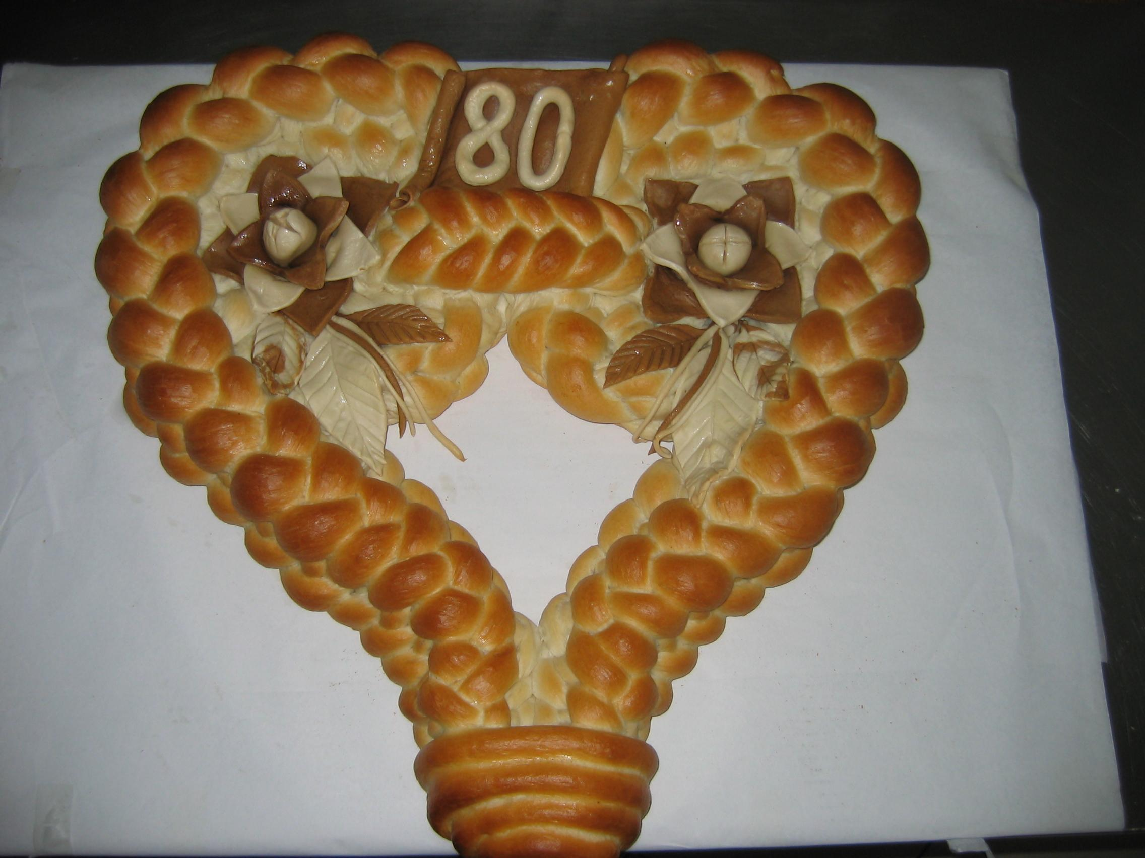 Braided Heart Bread | Pleteno Srce Recipe — Dishmaps